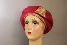 60s Hat Beret  1960s Vintage Wool by LadyScarlettsVintage on Etsy