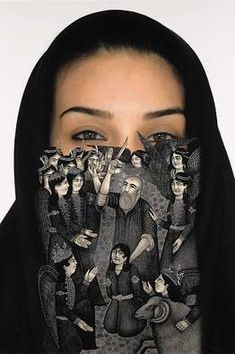 'The Loss of Our Identity #6,' 2007 by Iranian artist Sadegh Tirafkan.  Picture #2 at link.