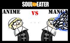 Soul Eater Anime vs. Manga : Justin by nobodygoddammit on deviantART