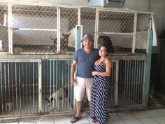 Cesar and Jahira at the shelter