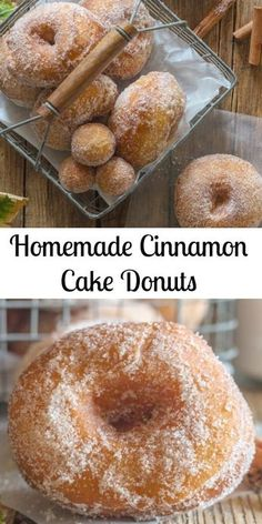Homemade Cinnamon Cake Donuts, no yeast makes these fast and easy and so delicious. Homemade Cinnamon Cake Donuts, no yeast makes these fast and easy and so delicious. Doughnuts Recipe No Yeast, Easy Donut Recipe, Baked Donut Recipes, Baking Recipes, Easy Homemade Donuts Recipe No Yeast, Cake Donut Recipe Fried, Cake Recipes, Easy Cake Donut Recipe Baked, Drop Doughnut Recipe