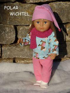 a6f0714de5 Doll clothes Gr.40-45 cm 5tlg set e.g. for Babyborn/-Sister 43 cm shirt  light blue reindeer pants pink corduroy zip cap doll shoes fleece