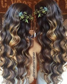 Waves of ombre! Colour and styling by Anna Clark using Ombre Colour, Color, Anna Clark, Wedding Hair Inspiration, Beverly Hills, Wedding Hairstyles, Waves, Long Hair Styles, Beauty