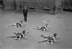 Children learning to swim, 1930's