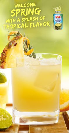 Aloha Screwdriver! Try this classic recipe  with a splash of 100%  DOLE® Canned Pineapple Juice. #KINGofJUICES