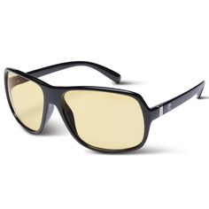 399cdfdc549 Glare Reducing Nighttime Driving Glasses at Hammacher Schlemmer. These  tinted glasses help reduce the glare