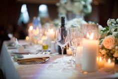 Wedding reception at Copper Creek, love the warm glow from the candles. Wedding Reception, Wedding Venues, Wedding Ideas, Take My Breath, Walking Down The Aisle, Beautiful Family, Engagement Session, Toronto, Table Settings