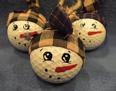 Painted Snowman Golf Ball Ornament                                                                                                                                                                                 More