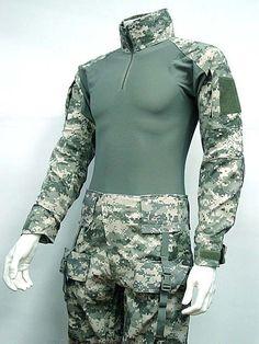 Combat Shirt Pants Digital ACU Camo w/ Elbow Knee Pads - Online Superior Shop for Tactical Gears Clothing Equipment Manufacturer Wholesaler OEM Tactical Wear, Tactical Clothing, Camo Outfits, Sport Outfits, Military Fashion, Mens Fashion, Combat Shirt, Combat Gear, Tactical Equipment