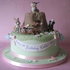 Beautiful Bambi Cake by the Cake Cupboard