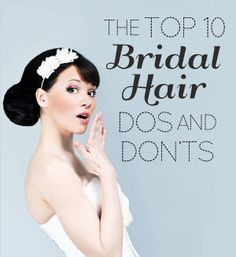 The Top 10 Bridal Hair Dos and Don'ts by Butterfly Studio expert stylist Vanessa Fernandez Wedding Vows, Our Wedding, Dream Wedding, Wedding Ideas, Wedding Hairstyles, Latest Hairstyles, Alternative Bride, Butterfly Wedding, Wedding Planning Tips