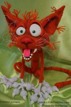 Project by Walkiriya. Orange cat Arestarh crochet pattern by Pertseva for LittleOwlsHut. #crochet# pattern#DNY#Pertseva# cat# Arestarh#LittleOwlsHut#