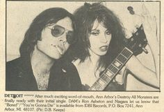 Destroy all Monsters were from Detroit Michigan and featured ex-members of Stooges, Ron Asheton, and Michael Davis, along with the amaz. Much Music, Music Is Life, Detroit Rock City, Detroit Michigan, Rock Revolution, 70s Punk, Punks Not Dead, The Stooges, Music