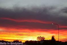 sunset wow toowoomba queensland australia beautiful sky on fire