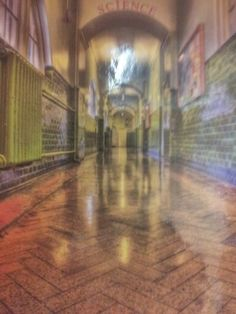 This is a picture of the hallway at my old school. It reflects viewpoints because it's been takdn from quite low down and its not something you usually see