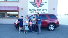 Congratulations To This Family On Their 2008 Gmc Acadia From All Of Us Here At Alvarez Auto S Thank You For Your Business