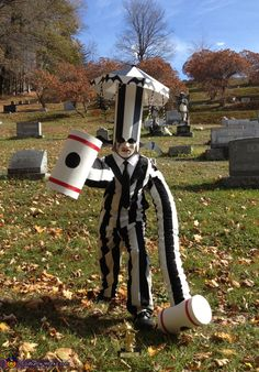 Beetlejuice with Carousel Hat and Hammer Arms - DIY Halloween Costume