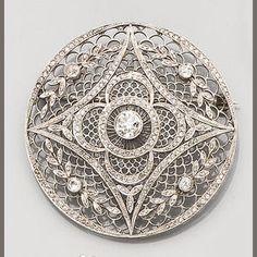 An early 20th century diamond plaque brooch