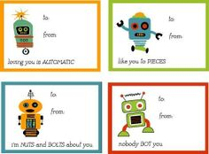 24 Robot Children Valentine Cards Perfect for the kiddos by ChrissyWatson, $8.99