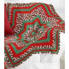 Starpoint Christmas Round Afghan kit from Herrschners