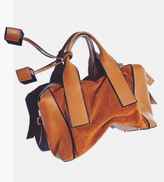 Slouchy suede bag from Pierre Hardy.