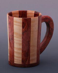 Bubinga & Curly Maple Wooden Mug