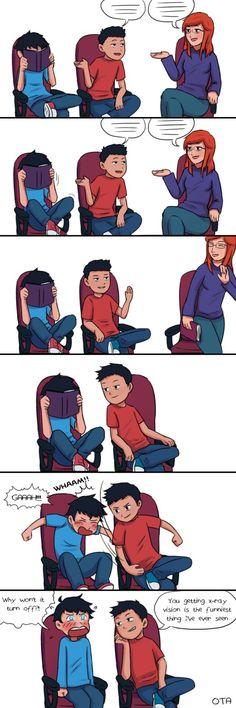 Damian and Jon, getting X-ray vision