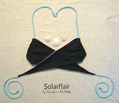 Layla Bikini Top Reversible Wrap Bikini Top by SolarflairSwimwear