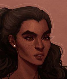 "cinnamart: ""trade w/ ! this is her Ryder, Ziva :^) "" Black Girl Art, Black Art, Art Girl, Fantasy Inspiration, Character Design Inspiration, Character Portraits, Character Art, Pretty Art, Fantasy Characters"