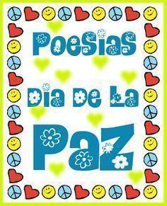 Actividades para Educación Infantil: Poemas sobre la Paz