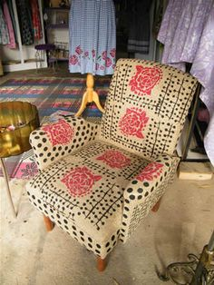 hand painted/printed chair