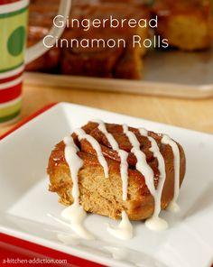 Gingerbread Cinnamon Rolls - A Kitchen Addiction
