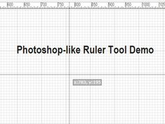 ruler.js is a jQuery plugin to generate horizontal & vertical rulers for web layout design that can be used to position HTML elements precisely. #jquery