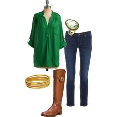 A fashion look from January 2012 featuring Paige Denim jeans, Jules Smith bracelets and Tory Burch shoes. Browse and shop related looks.