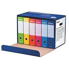 Esselte Oxford Box 390785110 6 Raccoglitori Oxford con Scatola, Formato Protocollo, Cartone, Dorso 8 cm per Raccoglitore, Multicolore: Amazon.it: Casa e cucina