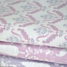 Notting Hill Fabric from Gütermann 3 Flower Ornaments, Notting Hill, Damask, Mauve, Pretty, Flowers, Fabric, Style, Tejido