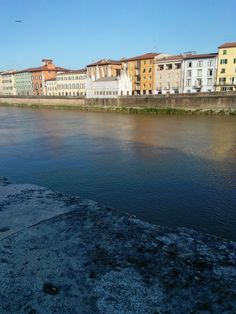View from the Lungarno. Tuscany, Pisa, Italy
