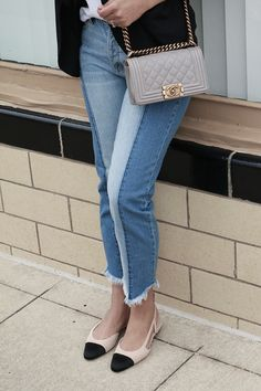 Frayed denim and Sli