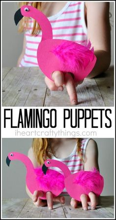 This darling playful flamingo kids craft is super simple to make and is great for the kids to play with after making it. Fun summer kids craft. This is a sponsored post for Gymboree sharing our favorite #OneBigHappy summer moments.