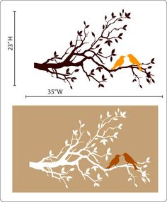 Tree Bird Stencil | Our patterns come with vibrant colors and designs so you can get ...