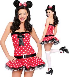 FANCY DRESS MISS MINNIE MOUSE COSTUME / PLAYFUL MOUSES OUTFIT / MOUSE ...