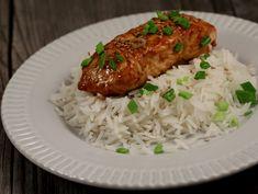 Somon Teriyaki Romanian Food, Salsa, Grains, Rice, Beef, Chicken, Cooking, Recipes, Muscat