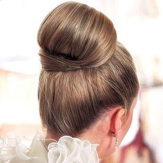 So classic. Love this bun. Although My man wants my hair down or half up for the wedding