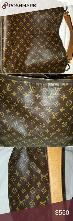 Authentic Louis Vuitton This is a really nice size bag and there are some cracks in tge canvas by the zipper. The purse still zips perfectly and the cracks are not very noticeable. I love this purse and carried it for a longtime. The price can be reasonably negotiated. Louis Vuitton Bags Shoulder Bags