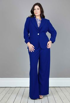 Anna Scholz - Tailoring Ruched Sleeve Jacket in cornflower blue.... cant wait to rock this suit x