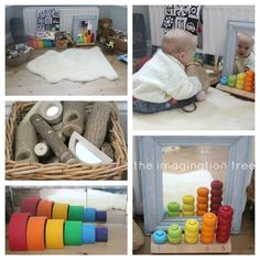 Baby Play Space for 6-18 Months: Inspired by Montessori and Reggio. Via @The Imagination Tree