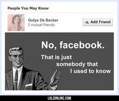 No Facebook #lol