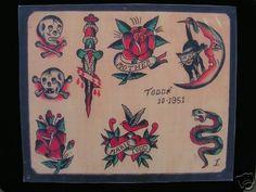 Vintage Tattoo Design, Vintage Tattoos, Antique Tattoo, Sailor Jerry Flash, Tattoo Museum, Sailor Jerry Tattoos, Dragon Sleeve Tattoos, Traditional Tattoo Design, Japanese Dragon Tattoos