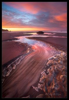 Second Beach Sand River, Olympic National Park, WA, vía Flickr. Fotografía de Chip Phillips.