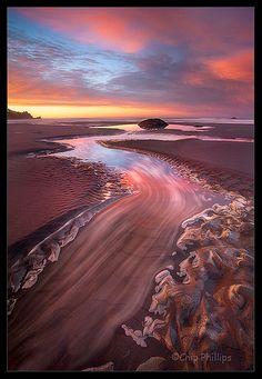 Second Beach Sand River, Olympic National Park, WA, vía Flickr. Fotografía de Chip Phillips.